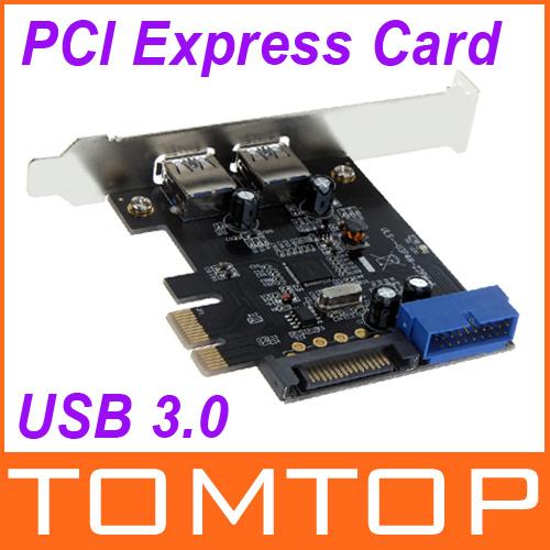 SuperSpeed 2-Port USB 3.0 PCI-E PCI Express 19-pin USB3.0 15-pin SATA Connector Low Profile(China (Mainland))