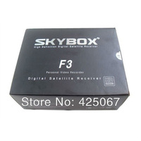 Newest Original Skybox F3 Satellite Receiver Dual-Core CPU 1080P Full HD DVB-S2 MPEG4 PVR CCCAM  Free Shipping