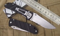 Free shipping SANRENMU 907 folding pocket outdoor camping survival knife sharp blade