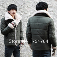 New Arrival 2013 Men's Warm Berber Fleece Down Jacket Outdoor Parkas Mens Outdoors Thickening Coats Casual Men Military Overcoat