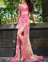 New Mermaid Applique Wedding Dress Bridal Gown All Size custom Free shipping Prom Dress
