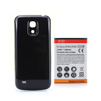 Extended 4300mAh Battery + Back Cover For Samsung Galaxy S4 SIV mini i9190 Black