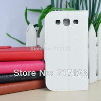 1 x Luxury Flip PU Leather Wallet Case For Samsung Galaxy S3 Neo GT-i9301/S3 I9300 SIII NEO+ I9300i Case Free Shipping