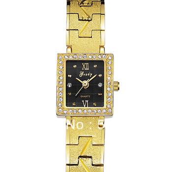 2014 Women New Fashion Golden Dress Stainless Metal Girls Women's Lady Bracelet Quartz Watches