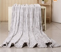 "BK-11 New Style Coral Fleece Blanket 100% Flannel Thicking Zebra Cut Blanket Soft thick Animal Print Throw 180x200cm(70""x80"")"