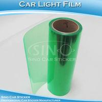 "SINO CAR STICKER 0.3x10M 12""x394"" Free Shipping Green Car Light Vinyl Wrap Film/Car Headlight Protective Vinyl"