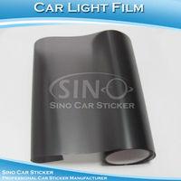 "SINO CAR STICKER 0.3x10M 12""x394"" Free Shipping Matt Black Car Headlight Decoration/ Car Light Vinyl"