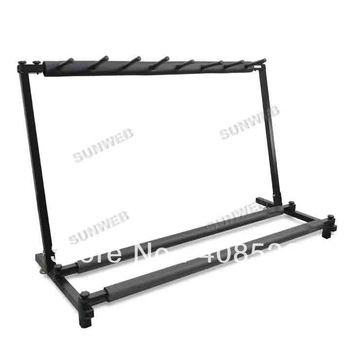 2013 New Electric Bass Guitar Rack Display Hanger Stand 7 Spaces Drop Shipping TK0853