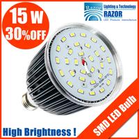 Free Shipping!15W SMD bulb light 5730 smd led,5pcs/lot,AC85-265V,E27/E14/B22,CE&ROHS,15w led light bulb,brightness led lighting