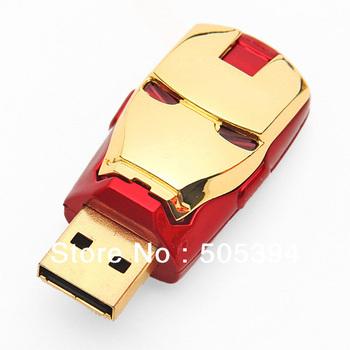Popular Iron Man Models Full Capacity 4GB USB Flash Pen Drive Gift warranty  free shipping  3220