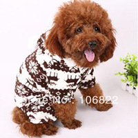 Pet Doggie Soft Warm Puppy Snow Cute Clothes Snowflake Deer Hoodie Jumpsuit New LX0116 Free shipping&DropShipping