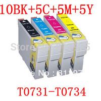 25PCS T0731-T0734 73 ink cartridge 4 color For EPSON Stylus C79/C90/C92/C110/CX3900/CX4900/CX4905/CX5600 printers full ink