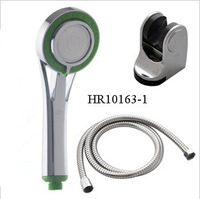 free shipping ABS shower head+shower base+1.5m plumbing hose,simple shower set,HR10163