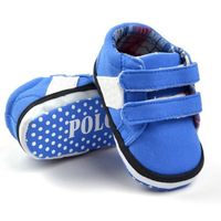 Baby boys shoes, soft sole, hook & loop baby board shoes,  toddler shoes, blue canvas infant shoes,free shipping
