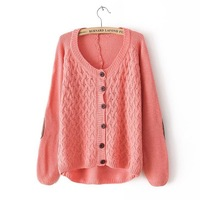 2013  European Style Brand Cardigan Loose Retro Bottoming Coat Knitted Sweater Spring Fall Winter Women Lady Free Shipping CL817
