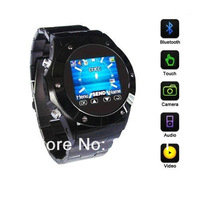 Free shipping QuadbandNew Stainless Steel OLED Touchscreen GSM Camera Bluetooth MP3/MP4 Watch Mobile Phone W888