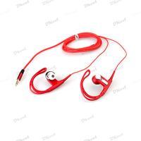 3.5mm Sport Running Red Ear Hook Earphone Headphone Headset for Samsung iPhone iPod MP3 MP4 iPad PC