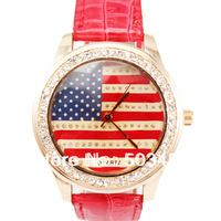 United States Flag Watch 60pcs/lot,Fashion Wrist Watch,Several Colors Available,DHL Free Shipping To Usa/Europe