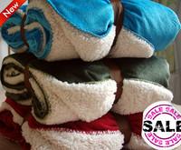 Hot-selling thickening berber fleece blanket coral fleece blanket raschel
