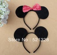 Wholesale - COSPLAY item,Minnie mouse ear, ear headband with bow/ animal ear headand Free shipping 20pcs/lot cfx
