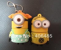 high quality 100% full  capacity Despicable Me   Minions usb flash drive flash memory pendrive 8GB 16GB  free shipping