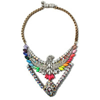Free shipping 2013 antique crystal fashion vintage statement  unique color chokers eagle necklace jewelry dropshipping