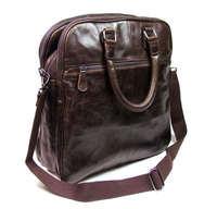 Free shipping by EMS!!2013 fashion Real Vintage Leather Men's Handbag Laptop Messenger Bag Chocolate Fashion Style 7059Q
