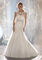 Innovative Design High Neck Lower Back Tulle Lace Backless Wedding Dresses