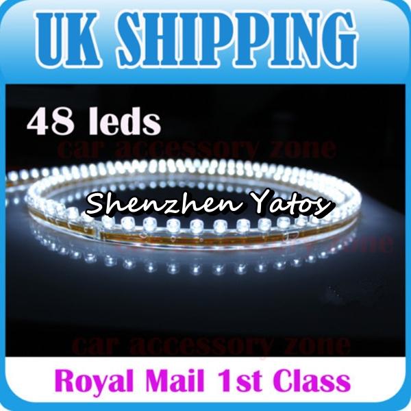 5pcs 48 LED Bulb Flexible PVC Light Strip 48cm Car 12v(China (Mainland))