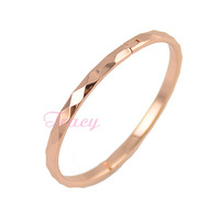 Womens Kids/baby 4mm 18K Solid Rose Gold Filled Bracelet Bangles Fashion Jewelry Gold Openable Style