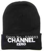 Free shipping! NEW CHANNEL ZERO Beanie hats Unisex High Quality Fashion Knitted hat cheap wool caps wholesale and sale!