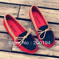 2014 Spring Boat Shoes Flat Heel Round Toe Shoes Gommini Loafers Sweet Flat Four Seasons Shoes Shallow Mouth Women's Shoes