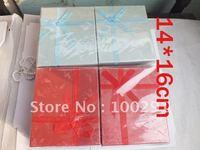 14*16cm  6PCS RED + 6 PCS LIGHT BLUE christmas   gift  box  jewelry set box free shipping by DHL