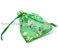 wholesale high quality jewelry organza bags christmas gift bag/pouch