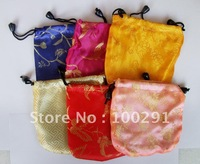 free shipping   fashion jewelry bags 500pcs Beautiful color silk bag