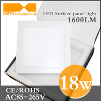 Free shipping low price energy saving 85-265VAC 18W Square LEDpanel light(CE&RoHS)