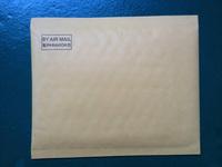 16.7cm*14cm orange brown envelope bag international package