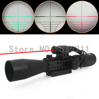 3-9X40 E weaver rail hunting rifle scope with red Laser  free shipping hunting gun accessories Tactical shotgun optics