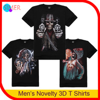Hot Sale Plus Size Men's 3D Printed Skeleton Fitness Short Sleeve Sport Polo Lycra Cotton Tees Tops Men Shirts Free Shipping