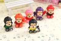 Wholesale, hot new multicolor cute cartoon monkey 4 gb, 8 gb, 16 gb, 32 gb flash drive usb 2.0 / car/memory stick/thumb/gift