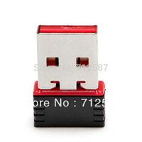 150M Mini USB wireless network card WiFi signal transmitter /receiver desktop WLAN USB Adapter for Nanofree shipping