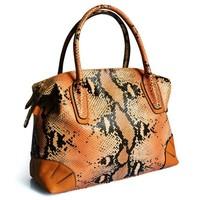 Serpentine leather shoulder bag diagonal package female bag cowhide leather hand wave