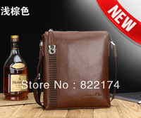 2014 new 2 color fashion genuine leather men's Messenger Bags&male cross body bag 49