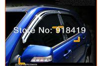 Free Shipping For 2011~2013 Hyundai Veloster Chrome Window Visors Rain Guards Sun Shield Fit