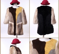 (S,M,L,XL)New Arrival 100% Genuine Fur Coat Rex Rabbit Fleece Berber Fur Overcoat For Women,Free Shipping