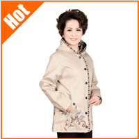 new arrival hot 2014 quinquagenarian embroidered middle-age women jackets mother clothing spring and autumn 4 color 4 size