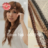 Free shipping New Fashion fascinator 6colors(20pcs/lot) girl chiffon flower wig headband wrap Elastic hairbands hair accessories