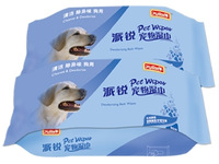 Pet wet wipe dog wet tissue antiperspirant 80 pcs big packing