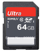 HOT !  SD card  64GB 32GB 16GB 8GB  Ultra 30M/s high speed SD CARD Class 10 64GB memory card secure digital card +Free Shipping