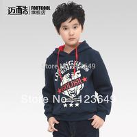 2014 children's clothing spring and autumn child 100% cotton thickening fleece sweatshirt male child pullover child outerwear
